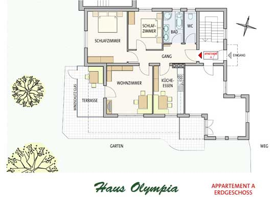 plan appartement A Olympia Lans